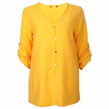 V Neck Patternless Synthetic Tops & Shirts for Women