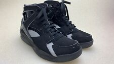 Nike Air Flight Huarache Size Black and Blue Basketball Shoes 305439-041 Size 8