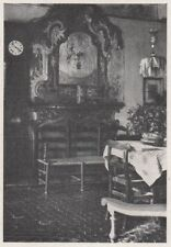 D3646 France - Saorgio - Interno di un'antica casa - Stampa - 1940 vintage print