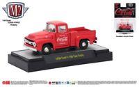 M110 52500 RW02 HOBBY M2 MACHINES 1956 Ford F-100 Truck PICK UP  COCA COLA 1:64