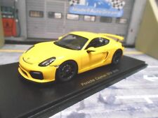 PORSCHE Cayman GT4 Coupe 2016 gelb yellow Resin Highend Spark 1:43
