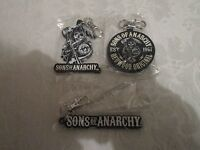Sons of Anarchy Mezco Rubber Key Chain Keychain Clip Lot of 3