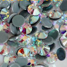 1440pcs ss20 5mm Clear AB #2 Iron On Hotfix Crystal Glass Rhinestones