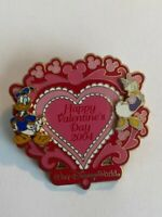 WDW Build A Pin Base Valentine's Day 2004 Donald Daisy Duck Disney Pin LE (B7)