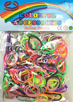 Loom band packs, various colours, 300, 600, 900 & 1200. Bracelet making.