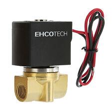 "1/4"" Electric Solenoid Valve Brass / Viton (FKM) 12V DC Air Gas Diesel B20V"
