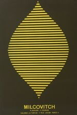 Mircea MILCOVITCH (1941)AFFICHE D'EXPOSITION Paris Bessarabie Jean Arp abstrait