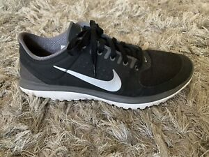 Sz 12 Nike Fit Sole Lite Mens Grey Athletic Black Running Shoes 616514-005