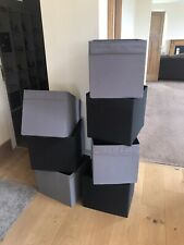 IKEA KALLAX Shelving unit, Storage Boxes x 7 Grey & Black