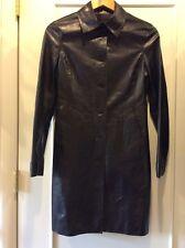 New M0851 women's black leather coat - size XXS