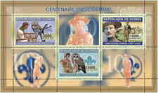 Guinea - Scouting & Owls - 3 Stamp Sheet - 7B-039