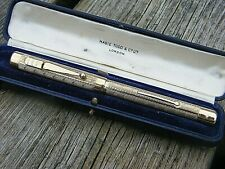 More details for antique mabie todd swan gold plated fountain pen & case 1915