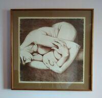 Self Nude? Carl E. Schwartz 1935-2015 Art Print Mid Century Lithograph Etching