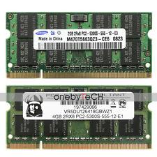 """6GB (2GB+4GB) PC2-5300 DDR2 RAM MacBook Pro""""Core 2 Duo"""" 2.4 15"""" MB133LL/A A1260"""