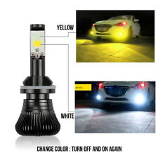 H8/H11 White Yellow Dual-Color COB LED Fog Driving Light For Honda Civic Accord
