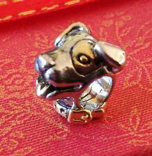 Charm Dog Bead Charm Cute Dog Charm Fits European Charm Bracelets 141