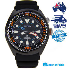 SEIKO PROSPEX Kinetic GMT Black Dial Divers Sports Mens Watch SUN023