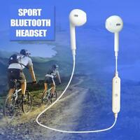 NEW Wireless Bluetooth Headset Sport Stereo Headphones Earphone Earbuds With Mic