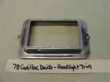OEM 78 Cadillac DeVille HEADLIGHT BUCKET BEZEL TRIM RING