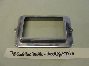 OEM 78 Cadillac DeVille HEADLIGHT BUCKET BEZEL TRIM RING