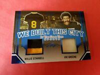 JOE GREENE WILLIE STARGELL GAME USED JERSEY CARD #13/30 PITTSBURGH STEELERS LEAF
