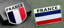 ALUMINUM France Flag Emblem Sticker 3D Decal COMBO PACK For Auto, Car, Truck