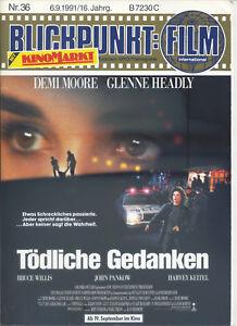 Blickpunkt Film Nr. 36 1991 16. Jahrgang Kino Bruce Willis Demi Moore Headly