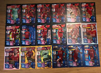 MATCH ATTAX EXTRA 2019/20 FULL SET OF ALL 18 LIVERPOOL CARDS INC FOILS 100 CLUBS
