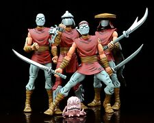 4PCS NYCC Shredder TMNT Teenage Mutant Ninja Turtles FOOT CLAN 7'' Figure ZX472