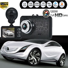 "2.4"" HD 1080P CAR DVR G-sensor Video Camera Recorder Dash Cam IR Night Vision"