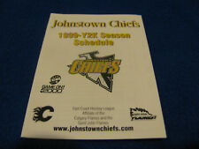 Johnstown Chiefs 1999/00 ECHL Minor Hockey Pocket Schedule - CTC