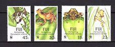 Fiji 1988 WWF Amphibias Frogs MNH Mi.586-89 --(cv 28)