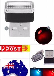 USB Mini Car Interior Night Light LED Neon Atmosphere Ambience Lamp  Red Light