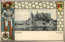 Meissen Germany Knight in Armor Border c1900 Postcard