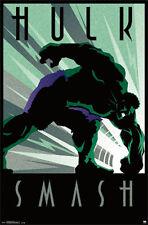 THE HULK SMASH (LAMINATED) POSTER (61X91CM) MARVEL COMICS INCREDIBLE RETRO ART