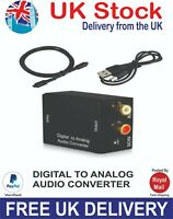 Audio converter digital to analog coaxial or Toslink digital