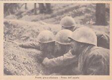 A4154) WW2, GRECIA, FANTI PRIMA DELL'ASSALTO.