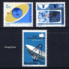 1968 - Australia - World Weather Watch/Satellite Communications - set of 3 - MNH