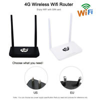 Portable 4G LTE Router LTE Wireless Mobile Wifi Hotspot w/SIM Card Slot 300Mbps