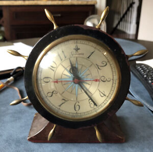 Vintage Nautical Ships Wheel Clock