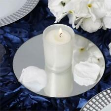 """6"""" Round Glass Mirror Wedding Party Table Decorations Centerpieces - 6 PCS"""