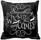 Throw Pillow Cover Black Something Wicked Bats Home Decor Cushion Sofa Case