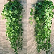 2 bunch Artificial Silk Evergreen Hanging Spider Garland Plants Faux Scindapsus