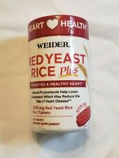 Weider Red Yeast Rice Plus - 120 Tablets - Exp. 7/23 - New Sealed - Free Ship
