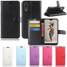 New Premium Leather Wallet Case TPU Cover For HUAWEI P30 Pro Nova 3e 3i & 2 lite