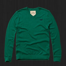 NWT New 2016 HOLLISTER By Abercrombie Men Iconic V-neck Sweater ALL Sizes Colors
