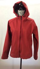Salomon Jacket Womens Large Softshell Fleece Lined Zip Front Hoodie Coral Red