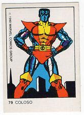 1980 Spanish Marvel Comics Superhero Terrabusi Trade Card  - #79 Colossus X-Men
