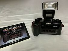 Nishika N8000 35mm 3-D Point & Shoot Film Camera with Flash and manual