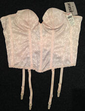 New Peach Basque UK 36AA Underwired padded cups suspenders bridal multiway strap